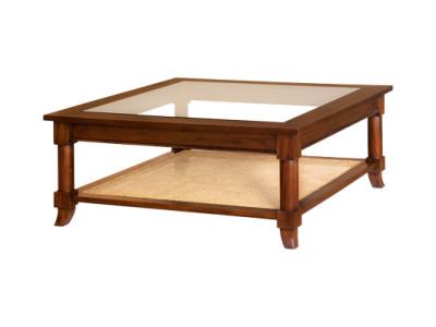 Klassieke salontafel rattan