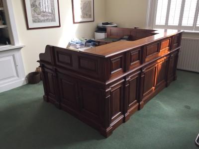 Maatwerk bureau – balie Engelse stijl