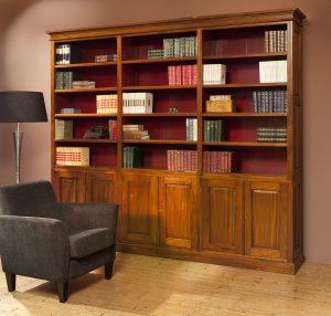 Klassieke mahonie bibliotheekkast Jane