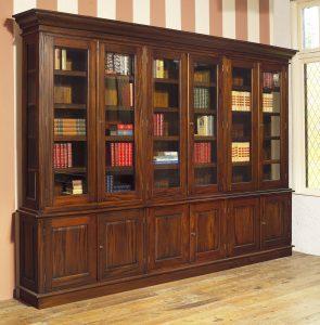 Klassieke mahonie bibliotheekkast Gillian
