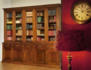 Klassieke mahonie bibliotheekkast Edmond