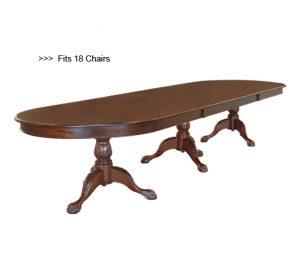 Klassieke mahonie tafel oval