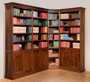 Klassieke mahonie bibliotheekkast Clayton